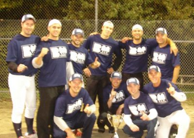 With baseball team after our championship baseball game.