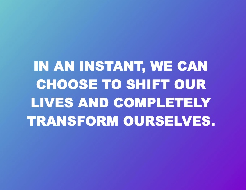 Transforming Ourselves